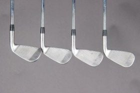 used second hand left handed golf clubs iron set