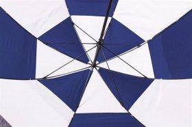 "Dual Canpopy 60"" Golf Umbrella Blue/White"