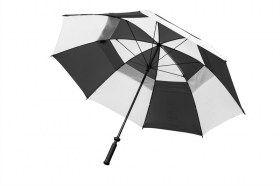 "Dual Canpopy 60"" Golf Umbrella Black/White"